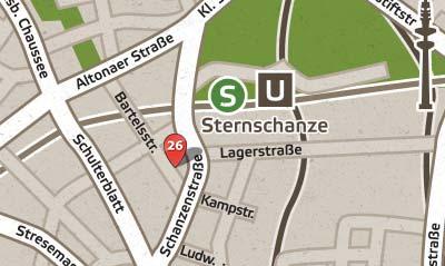 Lageplan Polokantine Bartelsstr. 26 20357 Hamburg